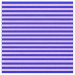 [ Thumbnail: Blue & Pink Striped Pattern Fabric ]
