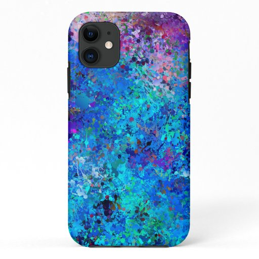 Blue Pink Teal Drops Abstraction  Case-Mate iPhone