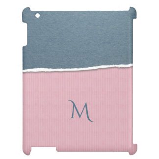 Blue & Pink Texture custom monogram device cases iPad Case