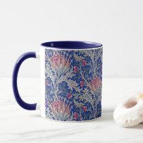 blue pink thistle mug