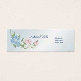 Blue, pink, white flowers blossom Business Card
