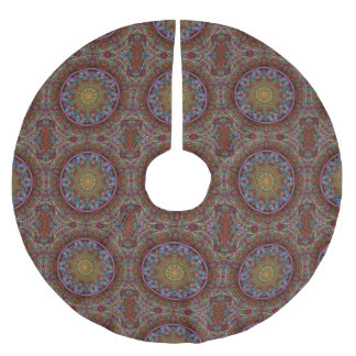 Blue Pink Windy Abstract kaleidoscope Brushed Polyester Tree Skirt