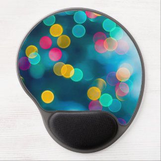 Blue, Pink & Yellow Abstract Lights Gel Mouse Pad