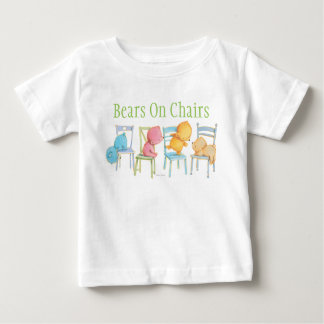 Blue, Pink, Yellow, and Brown Bears Play Baby T-Shirt