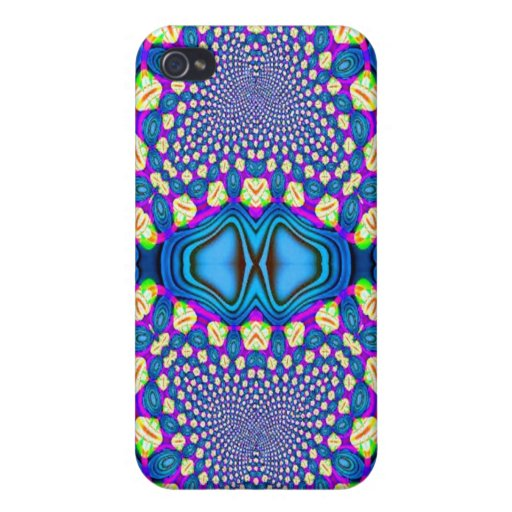 Blue Pink Yellow Design Speck Case Cover For iPhone 4