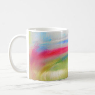 Blue Pink Yellow Green Abstract Coffee Mug