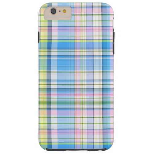 Blue Pink Yellow Wht Preppy Madras Phone Case