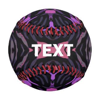 Blue Pink Zebra Baseball