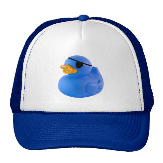 Blue pirate rubber duck hat