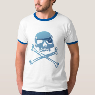 Blue Pirate Skull and Crossbones. Shirt
