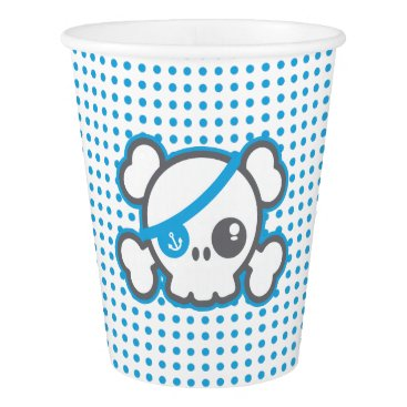 Halloween Themed Blue Pirkate Skull Halloween Party Cups