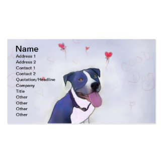 Blue Pit Bull Good Dog Business Card