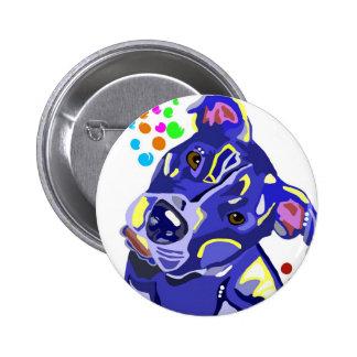 Blue Pit Bull Terrier Bttons Buttons