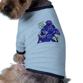 Blue Pit Bull Terrier Doggie Ringer TShirt Dog Clothes