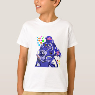 Blue Pit Bull Terrier Kids Tagless TShirt