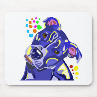 Blue Pit Bull Terrier Mouse Pad