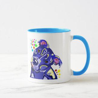 Blue Pitbull Coffee Cup Mug