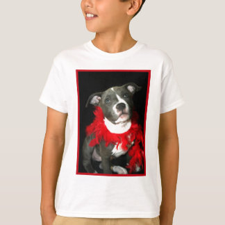 Blue Pitbull Puppy kids T-shirt