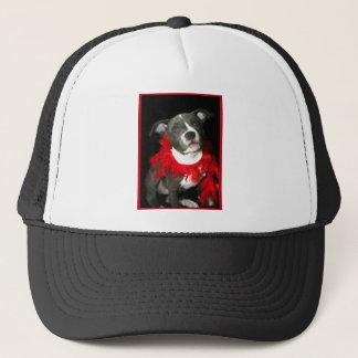Blue Pitbull Puppy Trucker Hat