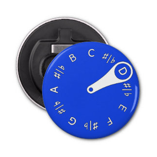 Blue Pitch Pipe Bottle Opener
