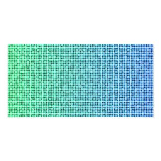 Blue pixel green mosaic card