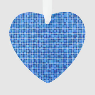 Blue pixel mosaic