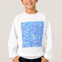 Blue Pixel or square pattern Sweatshirt