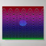 Blue Pixel Sundown #7 Posters