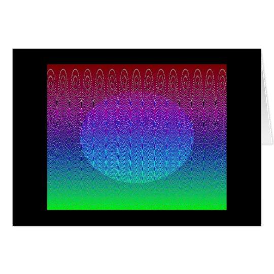 Blue Pixel Sunset #2 (card) Card