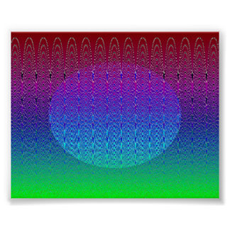 Blue Pixel Sunset #2 Poster