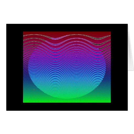 Blue Pixel Sunset #3 (card)