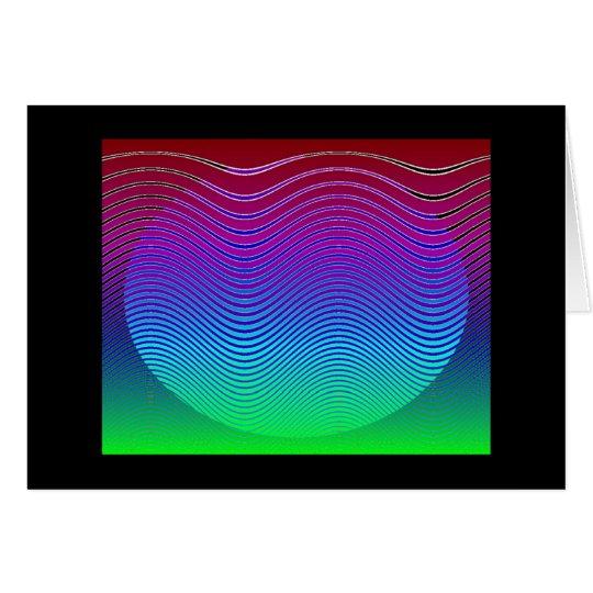 Blue Pixel Sunset #3 (card) Card