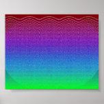 Blue Pixel Sunset #4 Print