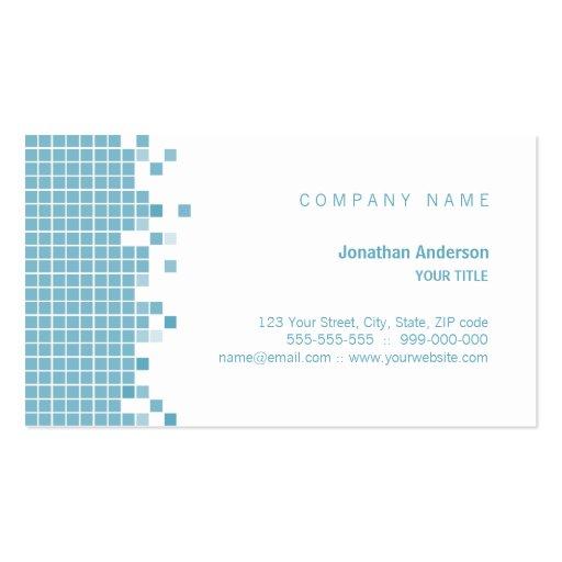 Blue pixels business card zazzle for Business card pixels