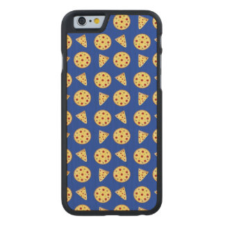 Blue pizza pattern carved® maple iPhone 6 slim case
