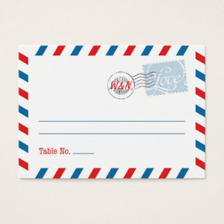 Blue Place Card Postal Service Collection