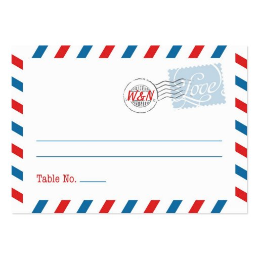 Blue Place Card Postal Service Collection Business Card