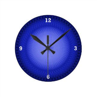 Blue Plafond Round Clock
