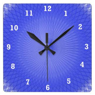 Blue Plafond Square Wall Clock