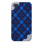 Blue Plaid and Lace - Girly iPhone Cases iPhone 4 Cover