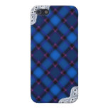 Blue Plaid and Lace - Girly iPhone Cases iPhone 5 Covers