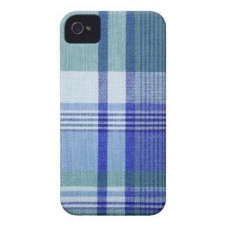 """Blue Plaid"" Blackberry Bold 9700/9780 Case-Mate iPhone 4 Cases"