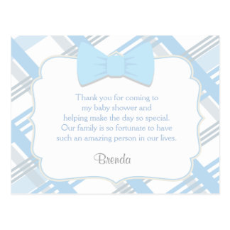 Blue Plaid, Cute Thank You Cards