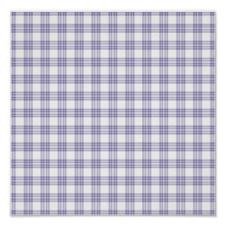 Blue Plaid Faded Background Paper Poster