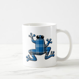 Blue Plaid Frog Coffee Mug
