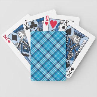 Blue Plaid Gaming Cards