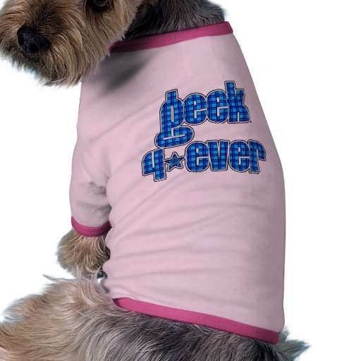 Blue Plaid geek 4ever Pet Tee