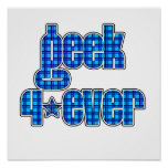 Blue Plaid geek 4ever Print