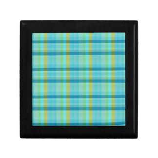 Blue Plaid Gift Box