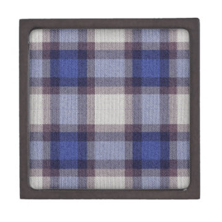 Blue Plaid Gift Box